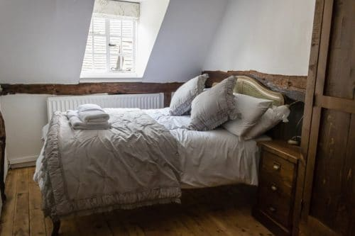 Master bedroom at One Masons Court in Stratford-Upon-Avon