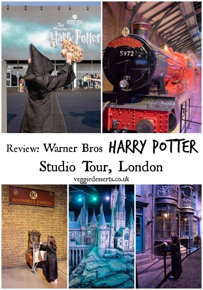 Harry Potter Studio Tour Review, London - Explore Warner Bros' enormous soundstages and backlot, where all eight Harry Potter films were made, with close up look at authentic sets, costumes and props. Look into the Gryffindor common room, stroll down Diagon Alley, drink butterbeer, board the Hogwarts Express on Platform 9¾ and walk through Ollivander's Wand Shop. #HarryPotter #wizard #witches #warnerbrosstudio #HarryPotterTour #DaysOutUK #HarryPotterStudioTour