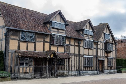 The front of Shakespeare's Birthplace - A weekend in Stratford-upon-Avon