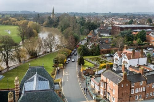 View from the RSC Tower - Stratford upon Avon