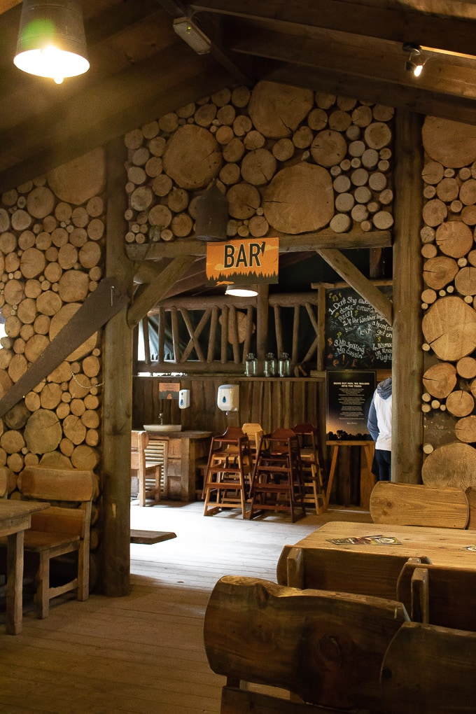 Camp smokey bar at Bluestone Wales