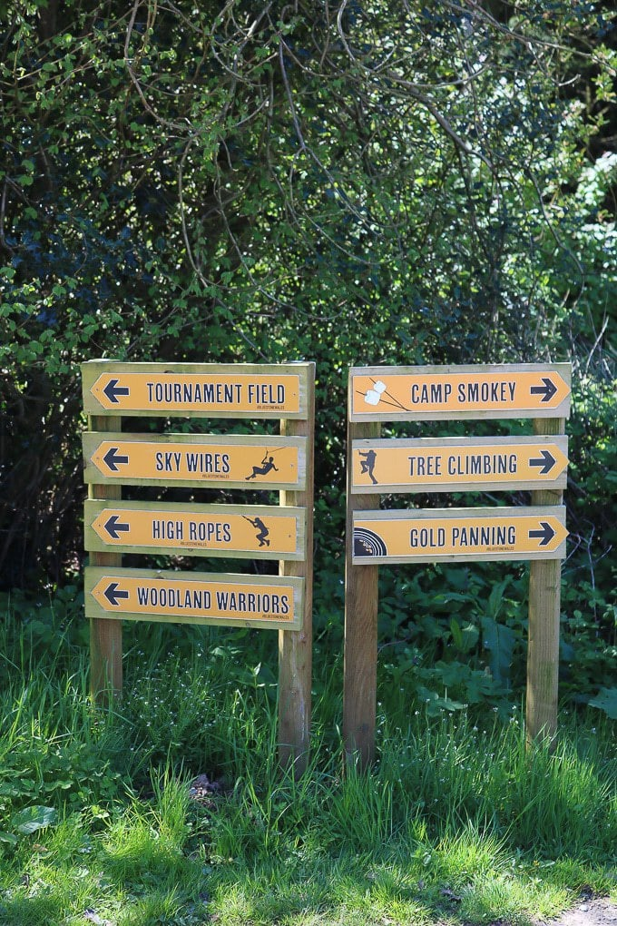 Sign of Activities at Bluestone Wales