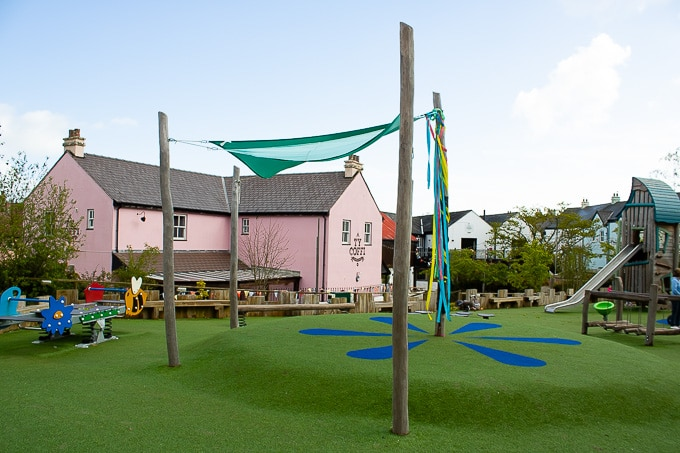 Play park in the village at Bluestone Wales