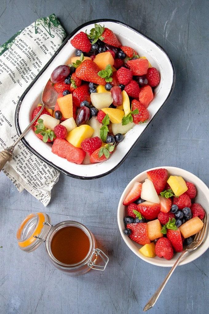 Fruit Salad With Tea Simple Syrup Veggie Desserts