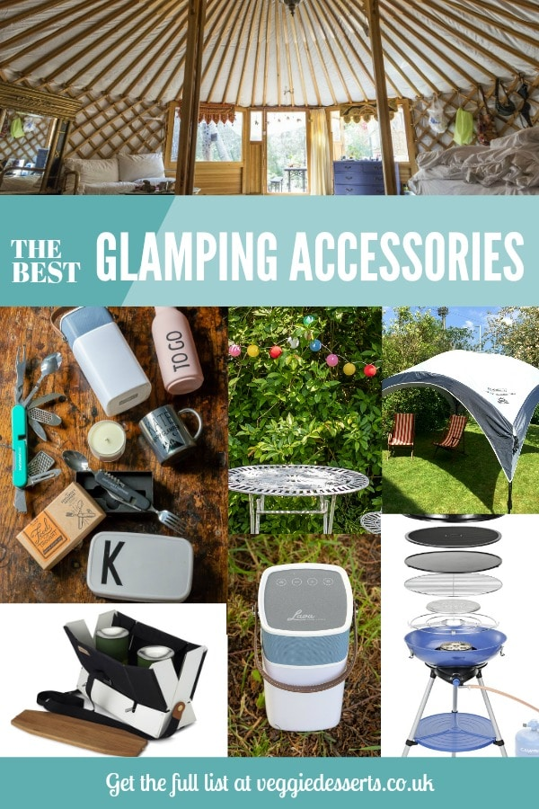 The Best Glamping Accessories by Veggiedesserts.co.uk