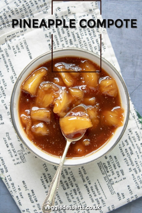 Easy Pineapple Compote with vanilla and optional dark rum