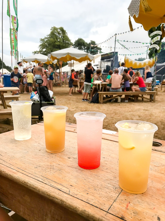 Gin cocktails at the Rob and Josie Gin Bar at Camp Bestival 2018