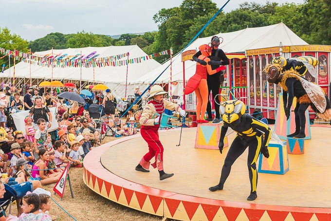 The insect circus stage - Camp Bestival 2018 review