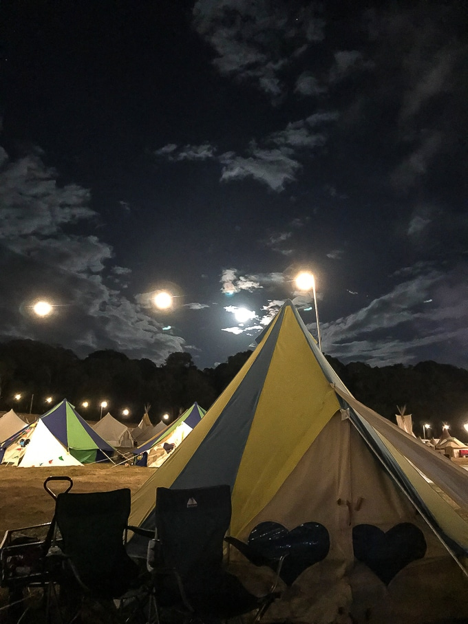 Bellepads by Podpads in the Boutique Camping at Camp Bestival 2018