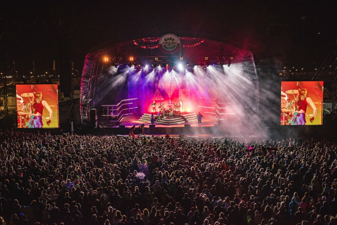 Clean Bandit on the main stage at Camp Bestival 2018