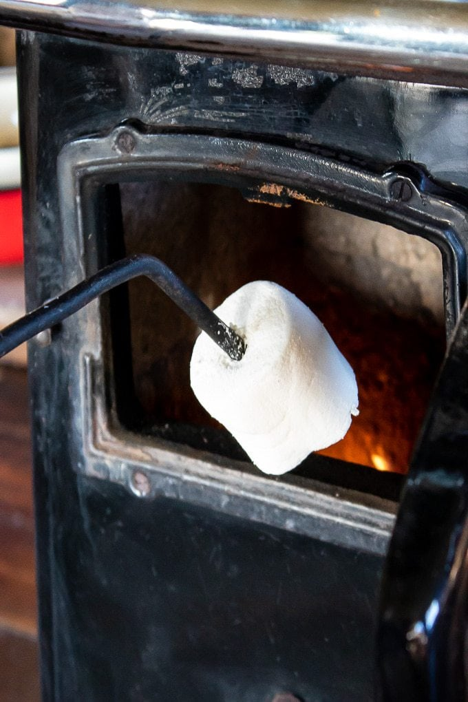 Toasting marshmallows - Feather Down Farm