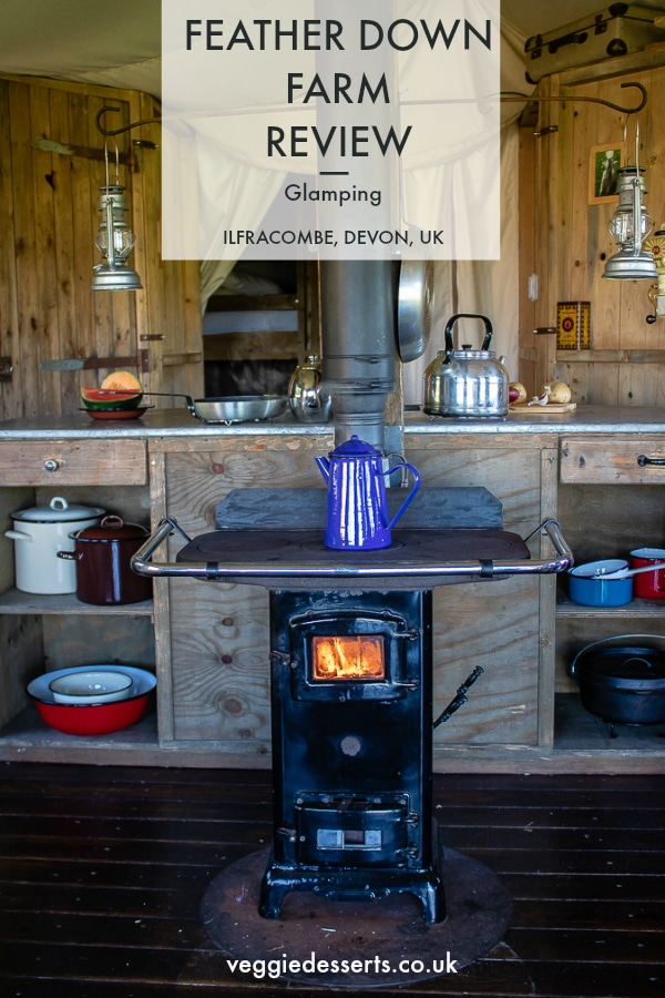 Review of Featherdown Farm, Ilfracombe, Devon. Inside of Canvas Lodge. Glamping.