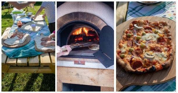 Pizza night at Feather Down Farms - Ilfracombe, Devon glamping