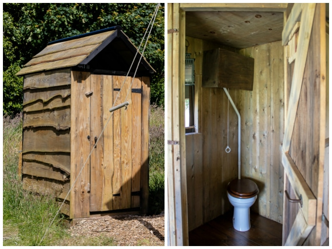 Shower and toilet facilities at Ilfracombe Featherdown Farm