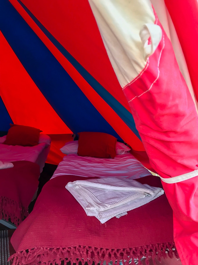 Inside a 4 person bell tent - Bellepad by Podpads (review) at Camp Bestival 2018