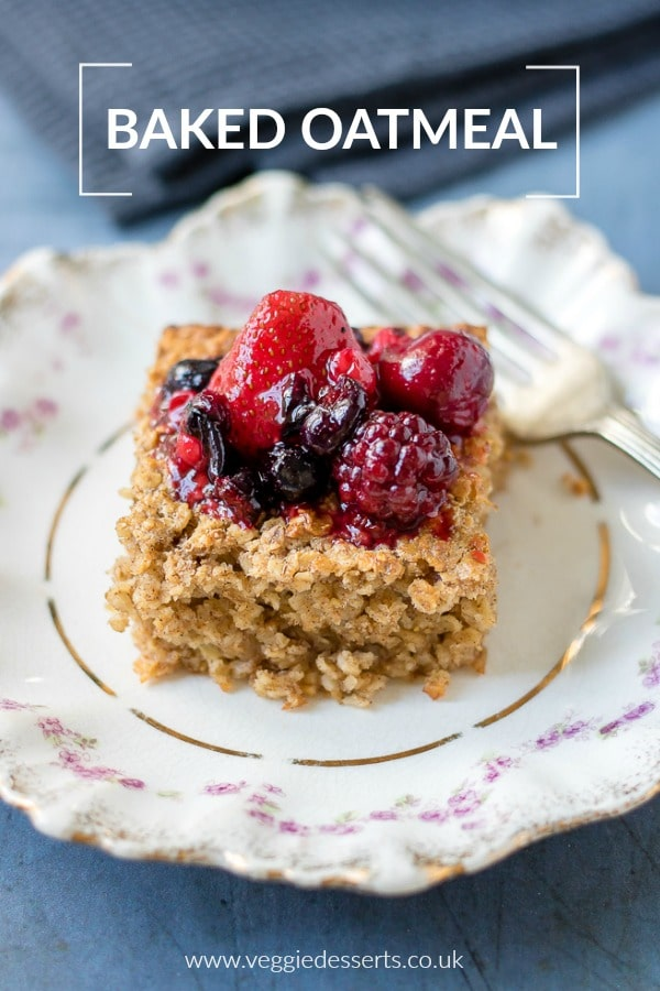 Baked Oatmeal - an easy make ahead breakfast recipe #bakedoatmeal