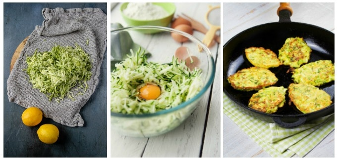 How to make courgette fritters recipe. Step by step photos.
