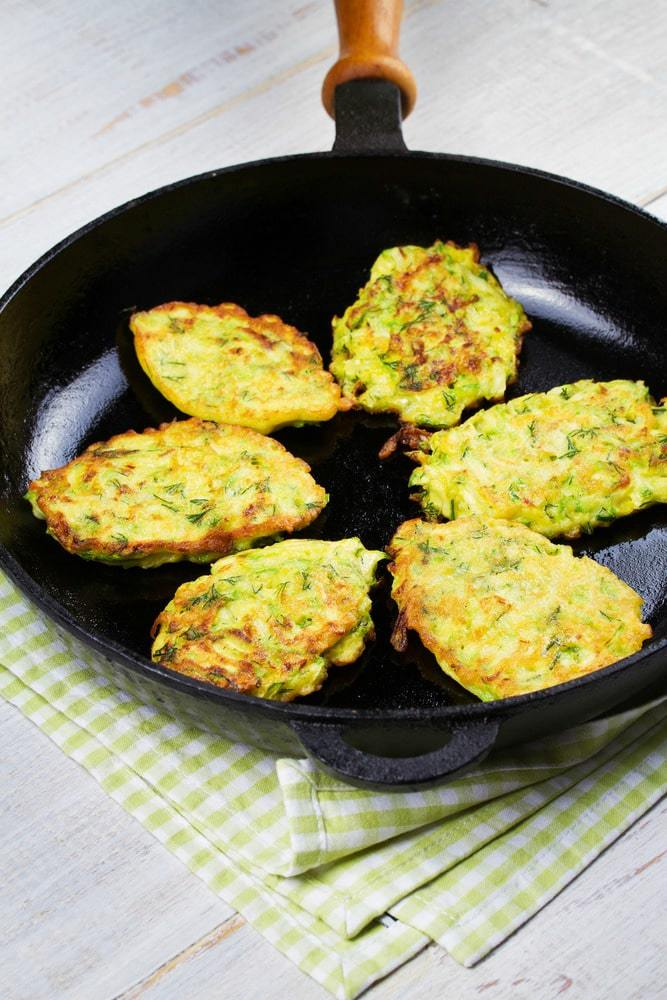 How to make zucchini fritters step 4