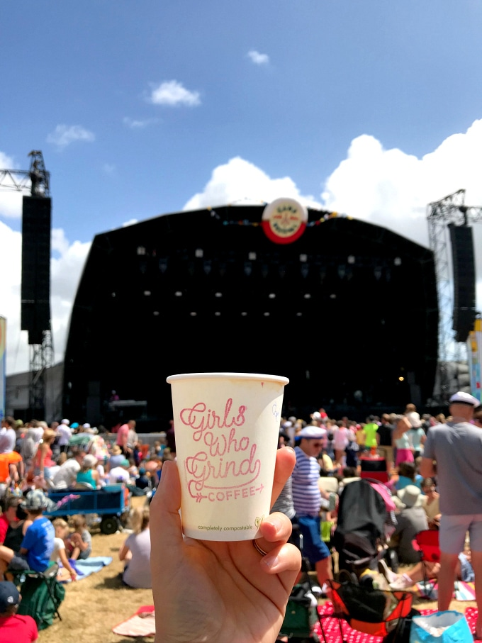 Girls Who Grind Coffee at the Camp Bestival main stage