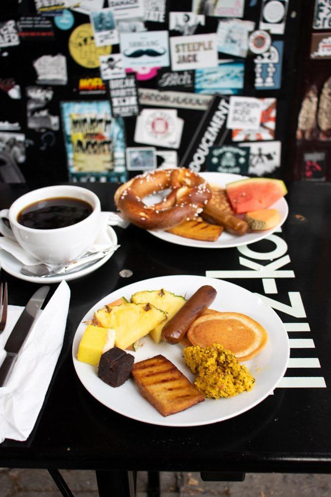 Breakfast buffet at Cafe Miller Hamburg