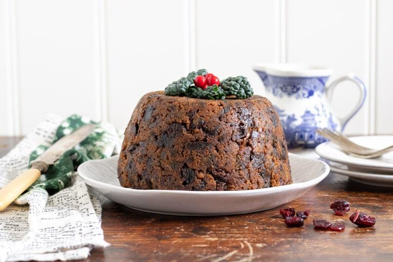 A cavolo nero kale Christmas pudding