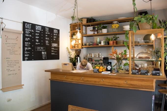 Inside HappenPappen vegan restaurant in Germany