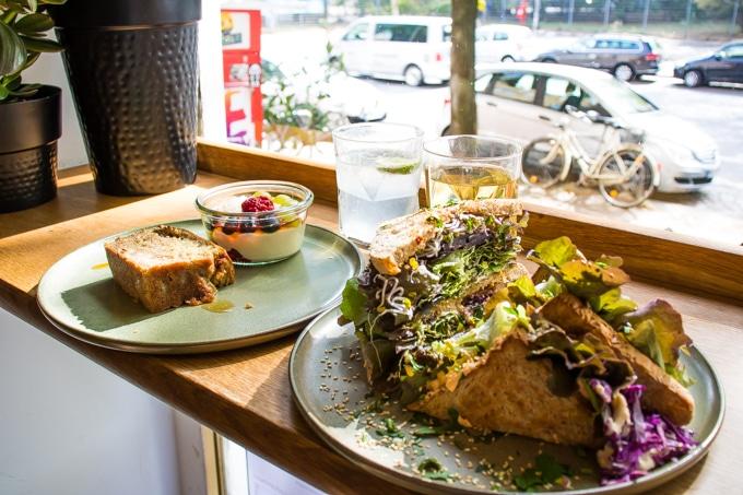 Food at HappenPappen - vegan cafe in St Pauli Hamburg