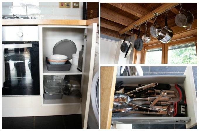Kitchen equipment Log house holidays Cotswolds UK