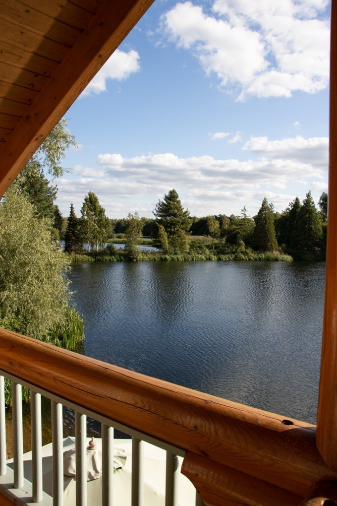 View from Kaiser's Cabin at Log House Holidays in the Cotswolds - Review