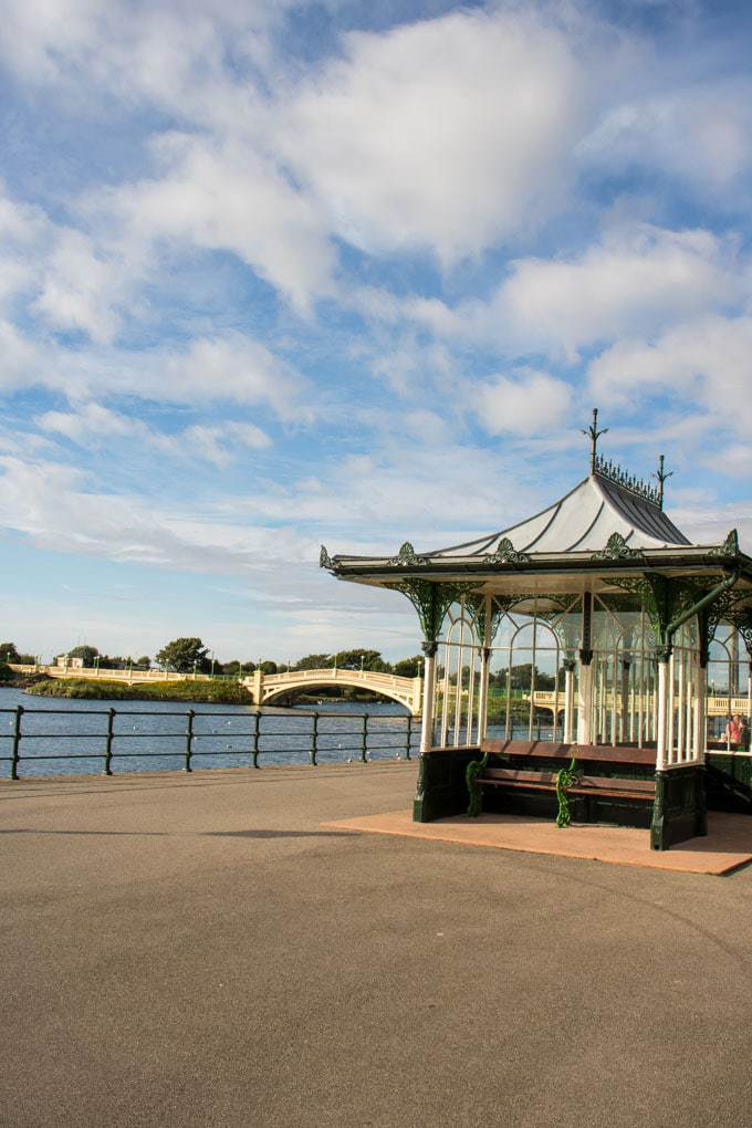 Southport - Marine Lake and Victorian Shelter