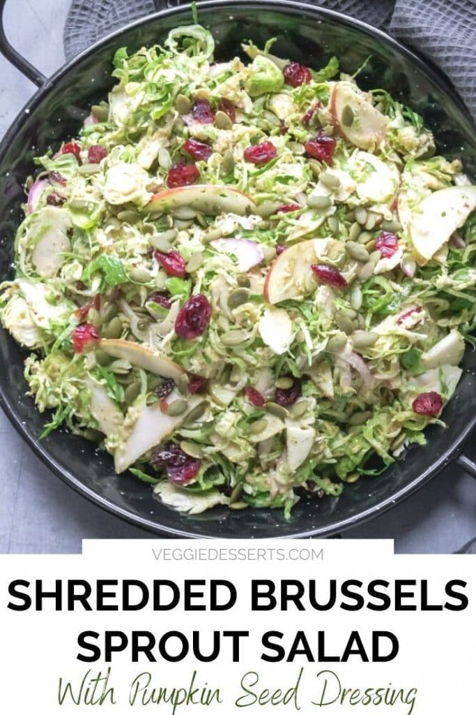Bowl of salad with text overlay