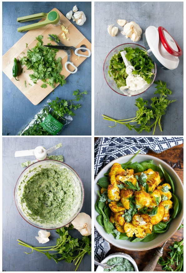 Step by step tutorial for making herb dressing