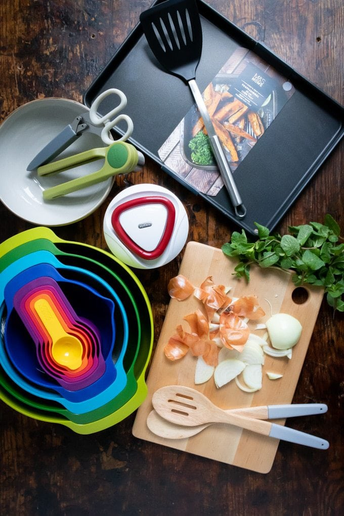 Flatlay of Marks and Spenser cookware