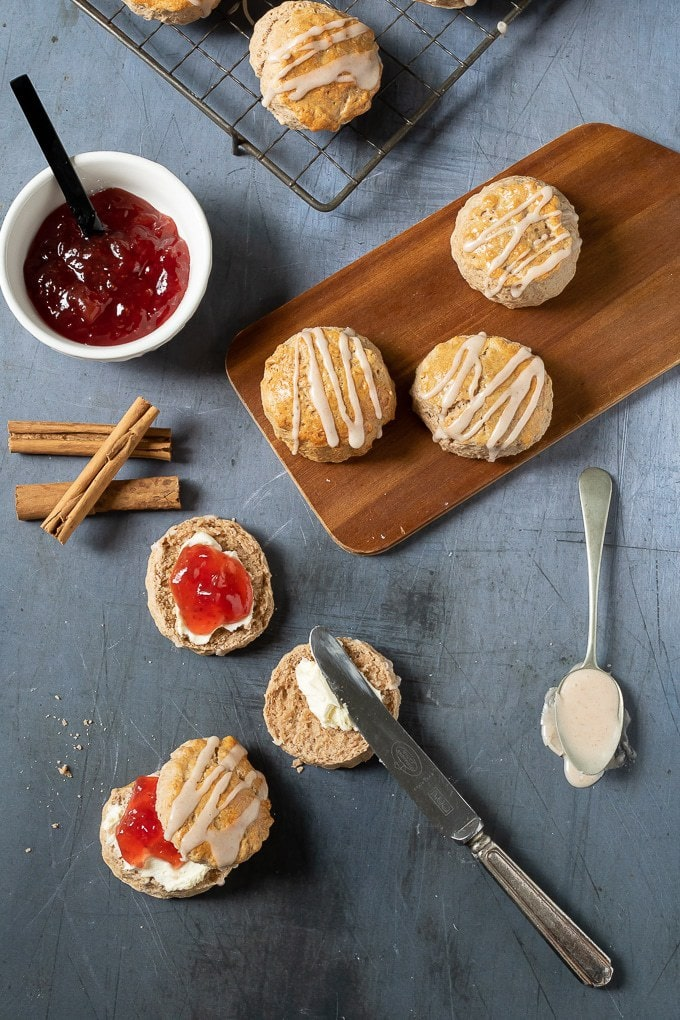 Scones on a table.