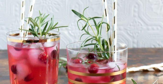 Ginger Cranberry Kombucha Mocktail