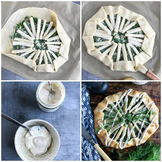 How to make salsify kale galette step by step picture tutorial