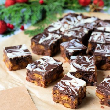 Squares of chocolate tiffin.