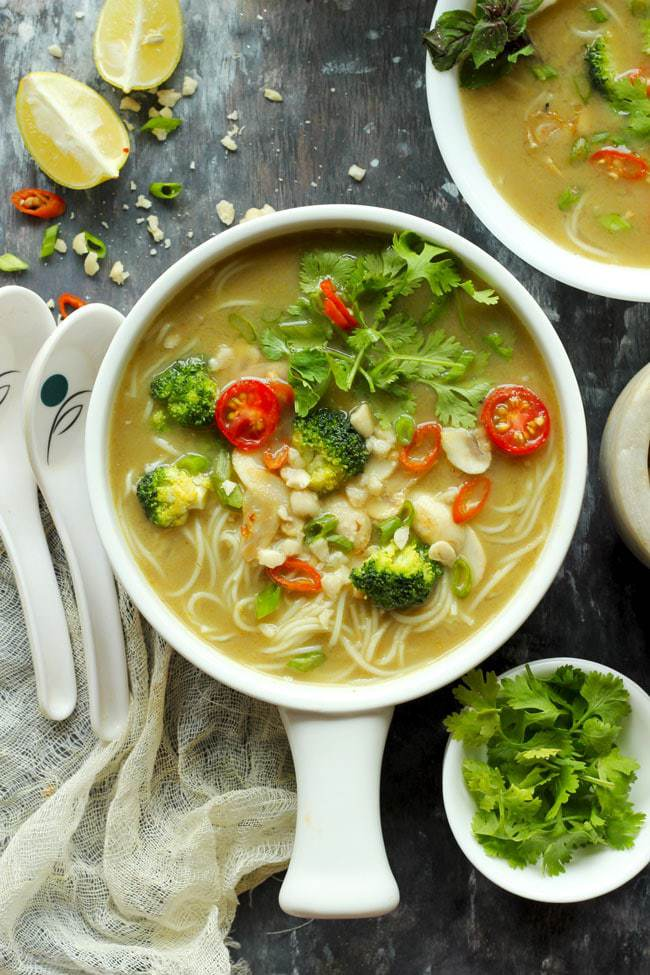 Vegan soup - Thai Green Curry Soup