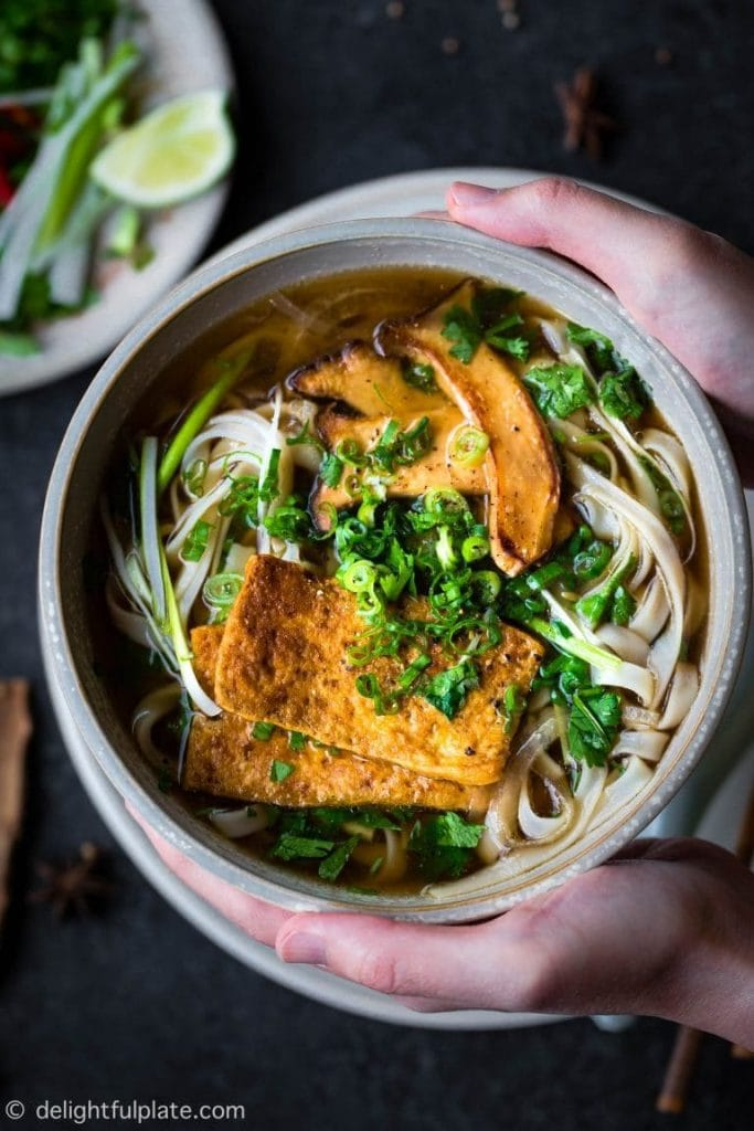 Vegan Soup Recipe Roundup - Vegan Pho Noodle Soup