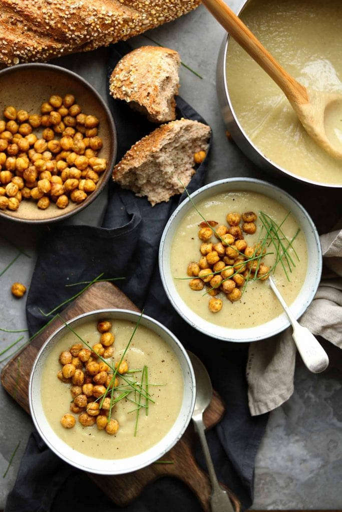 Vegan Soup Recipe Roundup - Spiced Cauliflower Soup