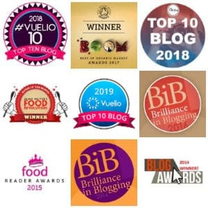 Awards for Kate Hackworthy of Veggie Desserts Food Blog