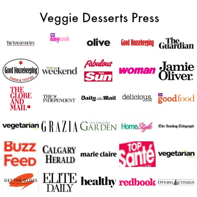 Press for Kate Hackworthy Veggie Desserts - UK food blogger