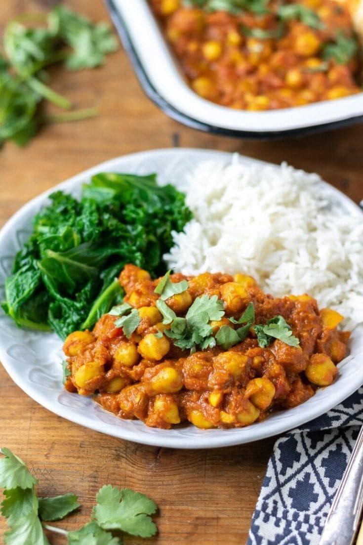 Quick Chickpea Curry (vegan, easy)