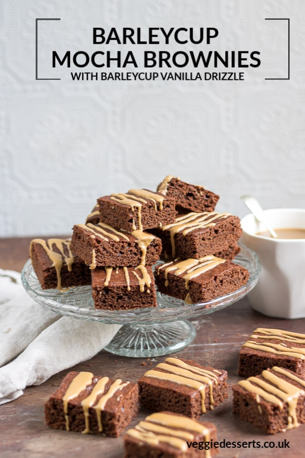 Pinnable image for Barleycup brownies.