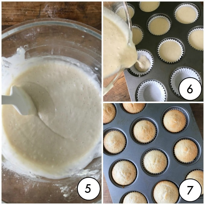 step by step images for vegan vanilla cupcakes
