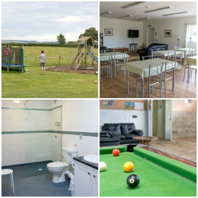 Collage of Caalm Camp Yurt Dorset facilities