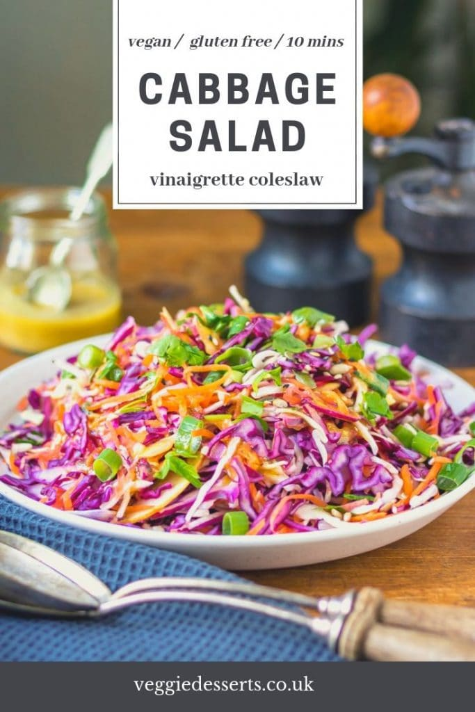 pinnable image for cabbage salad