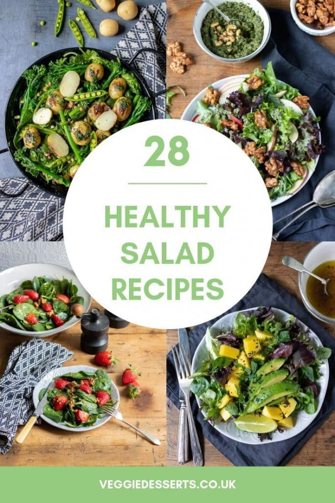 Pinnable image for healthy salad recipes