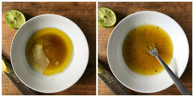 step by step collage how to make lime ginger dressing