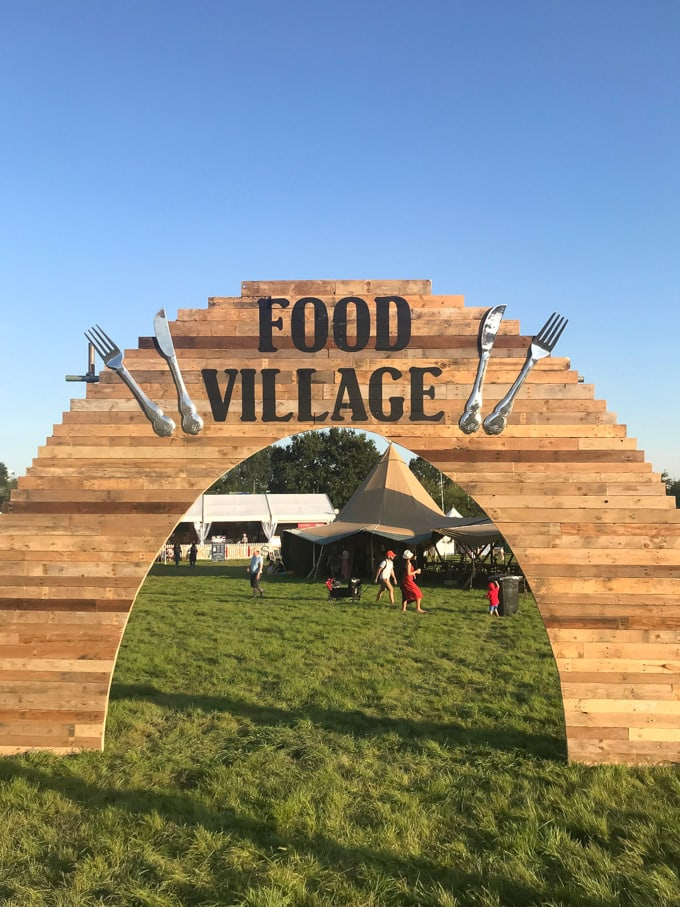 Food Village sign at Big Feastival